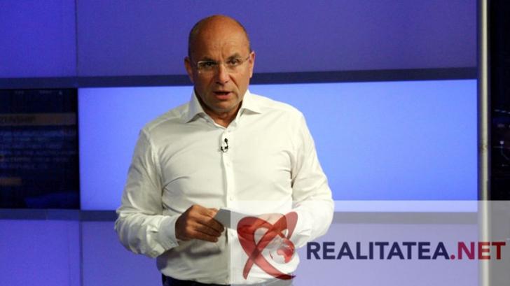 Cozmin Gușă în studioul Realitatea TV. Foto: Cristian Otopeanu