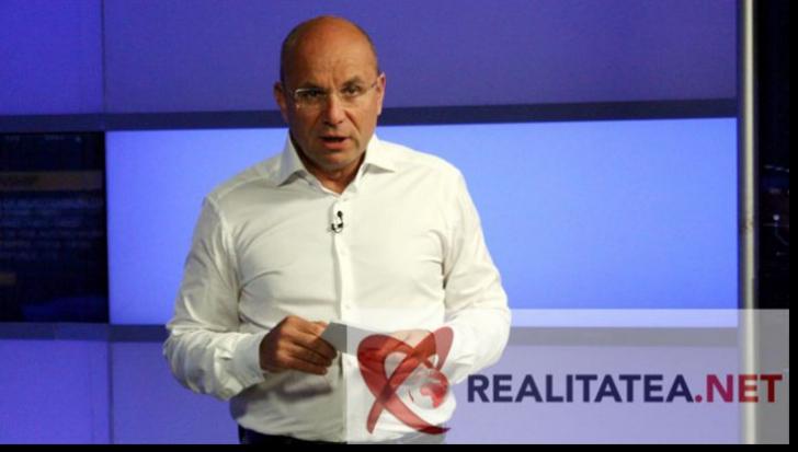 Cozmin Gusa, la Realitatea TV. Foto: Cristian Otopeanu