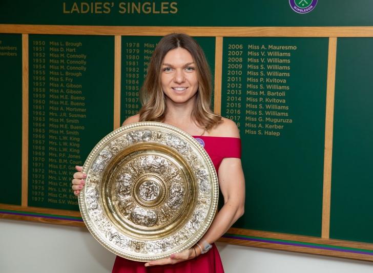 Simona Halep, imagini final Wimbledon