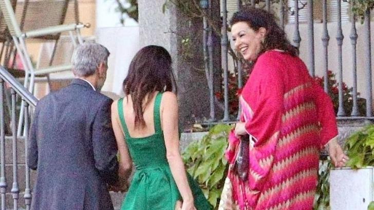 George Clooney, la cină cu soacra sa. Imagini de la fața locului