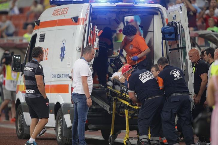 Scene incredibile pe Arena Națională! Eugen Neagoe, dus cu ambulanța la spital / Foto: Inquam Photos / Octav Ganea