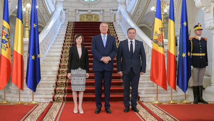Maia Sandu, alături de Klaus Iohannis și Andrei Năstase