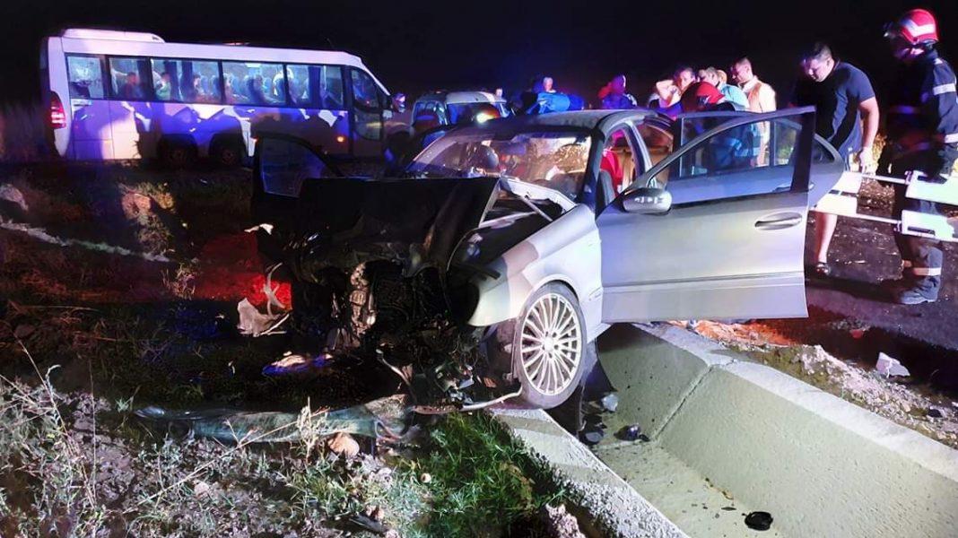 Accident cumplit, cu 6 victime, după o depășire neregulamentară, în Galați. Șoferul vinovat era băut