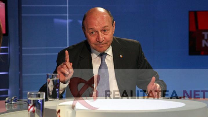 Traian Băsescu în studioul Realitatea TV. Foto: Cristian Otopeanu
