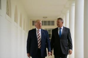 Klaus Iohannis și Donald Trump, la Casa Albă