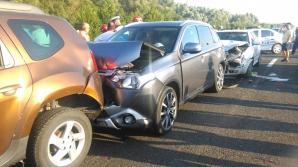 Accident în lanț, pe șoseaua dig Brăila – Galați: trei victime, 4 mașini făcute praf