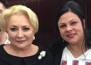 Cristiana Alcea alături de Viorica Dăncilă