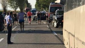 Accident înfiorător, DN 2, în județul Bacău: un mort, doi răniți