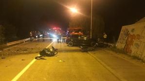 Accident grav, la Bistrița: a murit, după ce s-a izbit de stâlpul unei pasarele