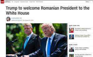 Material CNN despre vizita lui Iohannis la Trump