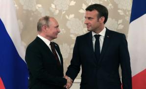 Putin, în vizită la Macron