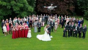 Nuntă filmată cu drona