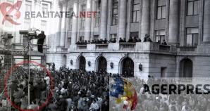 <p>Motivul pentru care camerele video TVR au tremurat la mitingul din Piata Palatului este vizibil in aceasta imagine (21 decembrie 1989). Reproducere foto Agerpres</p>