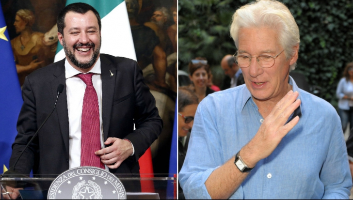 Richard Gere, atacat de Salvini