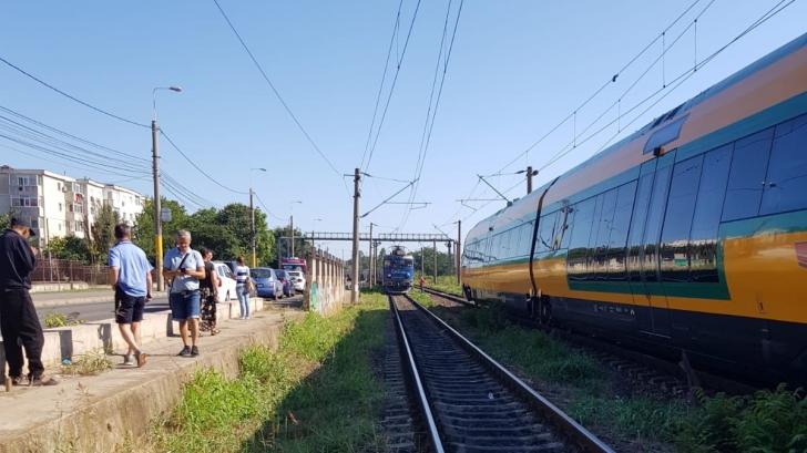 Accident de tren în Constanța. Două persoane au fost lovite
