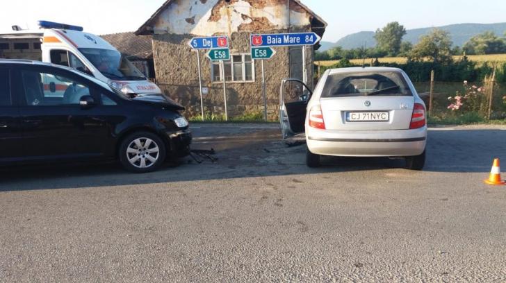 Accident grav, în jud. Cluj: o victimă, după un impact violent între două mașini