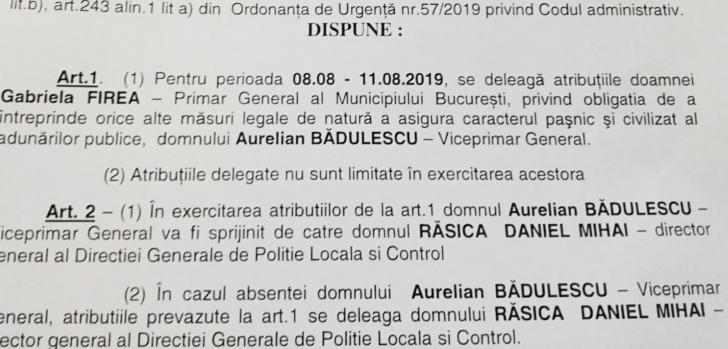 Gabriela Firea și-a delegat atribuțiile în perioada 10 august. Cine va conduce Primăria București