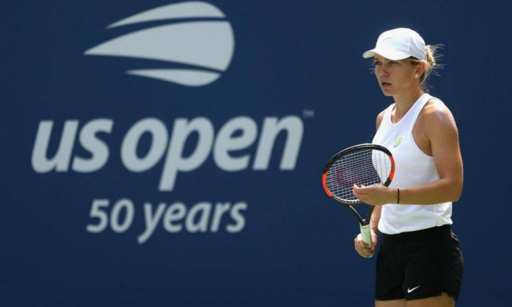 Simona Halep s-a antrenat cu Maria Sakkari la US Open