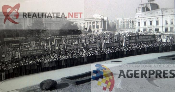 <p>Multimea adunata in Piata Palatului, cu putin timp inainte de spargerea mitingului (21 decembrie 1989). Reproducere foto Agerpres</p>
