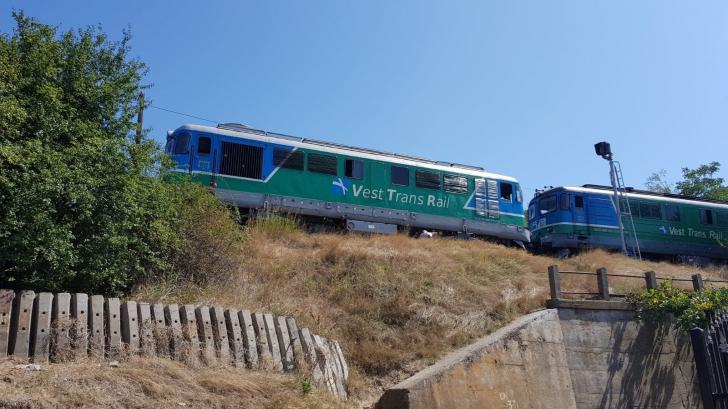 Incident feroviar, la Constanța: o locomotivă a deraiat