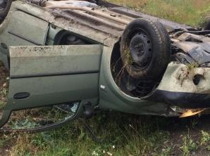 Accident grav, în Maramureș. O victimă, după ce mașina s-a răsturnat