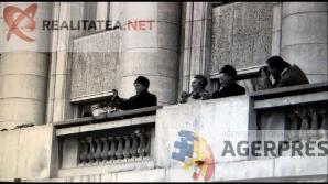 Ultimul miting al lui Nicolae Ceausescu, din 21 decembrie 1989. Reproducere foto: Agerpres