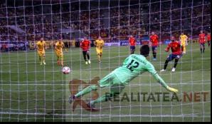 Romania - Spania 1-2. Momentul in care Sergio Ramos inscrie din penalty. Foto: Cristian Otopeanu