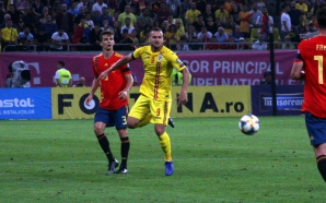 Imagine din meciul Romania - Spania 1-2. Foto: Cristian Otopeanu