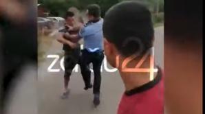 Bătaie ca-n filme între polițiști și localnici, în județul Sălaj: s-au folosit spray-uri lacrimogene