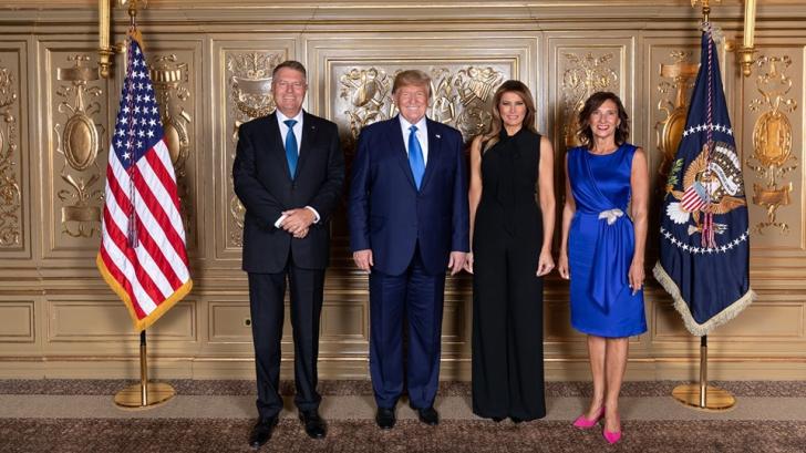Klaus și Carmen Iohannis, alături de familia Trump la recepția oferită de liderul SUA