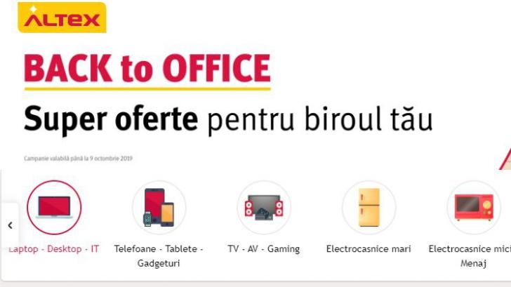 Altex - Promotie noua - Back To Office