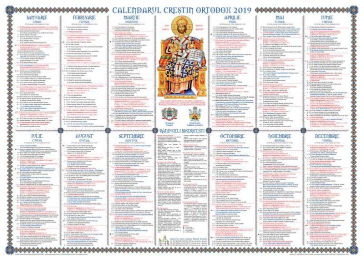 Calendar ortodox 2020 moldova