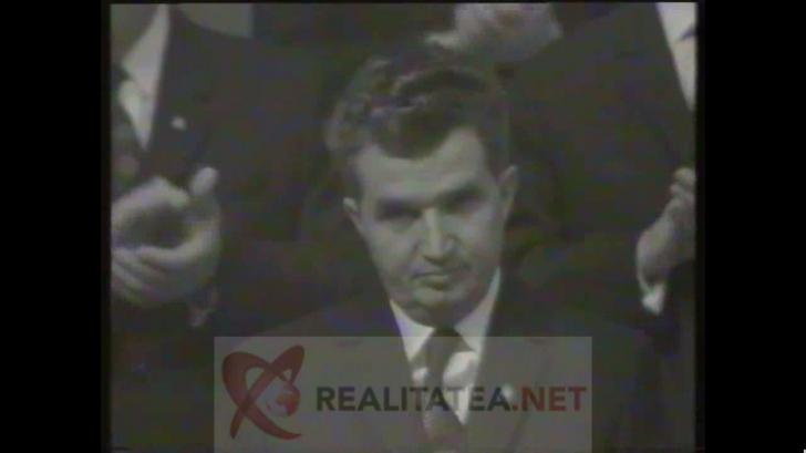 Imagini fabuloase cu Iliescu și Ceaușescu, surprinși la Sala Palatului