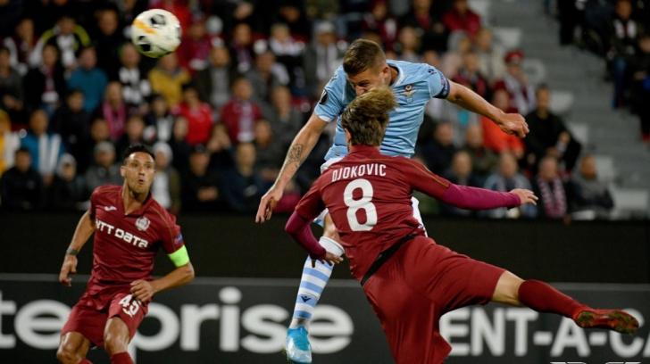 VIDEO | Victorie mare pentru CFR Cluj cu Lazio, în Europa League