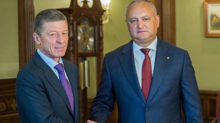 Igor Dodon a fost la Moscova, unde s-a întâlnit cu Kozak și șeful Gazprom