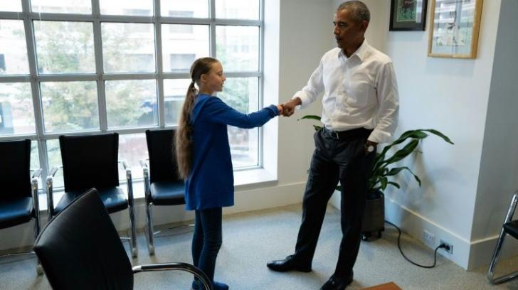 """Greta Thunberg, """"Ambasador al Conștiinței"""", primită de Barack Obama"""