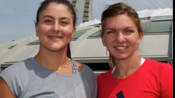 Bianca Andreescu și Simona Halep