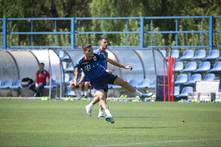 Antrenamentul oficial al 'tricolorilor' înaintea meciului cu Malta