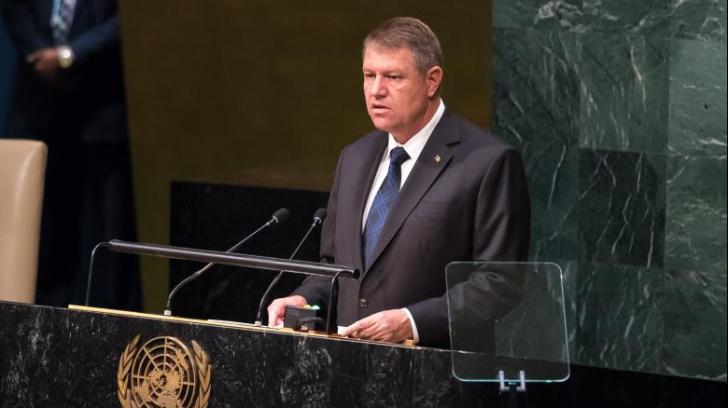 """Iohannis, la ONU: """"Asistăm la acțiuni deliberate care vizează subminarea securității"""""""