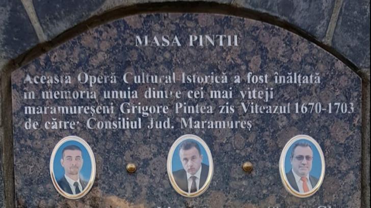 Cultul personalității în Maramureș. O nouă plăcuță omagială pentru PSD