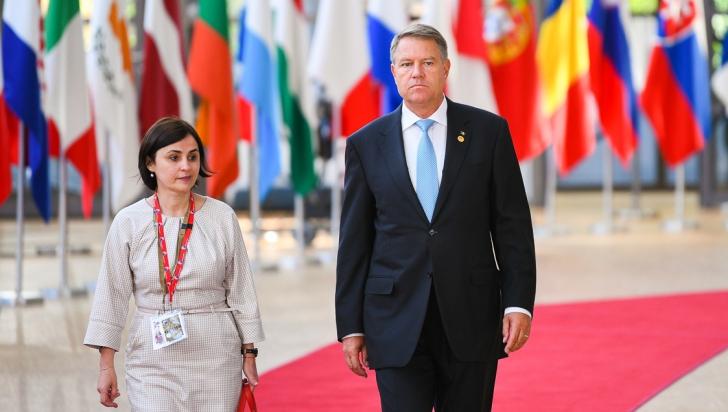 Luminița Odobescu, alături de Klaus Iohannis