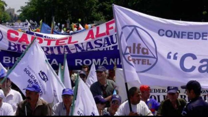 Protest în fața Guvernului