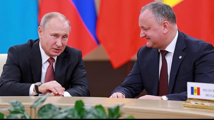 Vladimir Putin, încântat de noua putere de la Chișinău