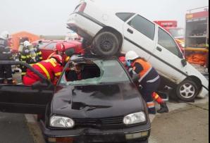 Accident simulat la Alexandria