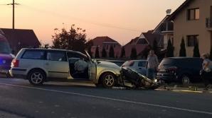 Accident șocant, în jud. Satu Mare: motociclist spulberat de mașină