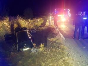 Accident grav, la ieșirea din Aiud: 3 victime, după ce mașina a intrat într-un BIVOL