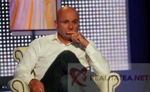 Cozmin Gușă, la ultima emisiune în studioul Realitatea TV. Foto: Cristian Otopeanu