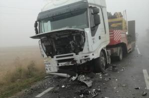 Accident grav, în jud. Botoșani: două victime, după un impact nimicitor cu un camion