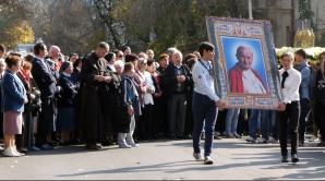 Procesiune relicva Papei Ioan Paul al II-lea