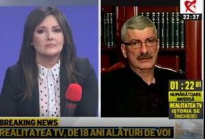 Silviu Prigoană, în ultima emisiune de la Realitatea TV